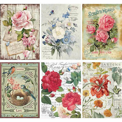 Stamperia - Rice Paper x1 A4Sheet - FLORAL / BOTANICA / BIRD THEMES