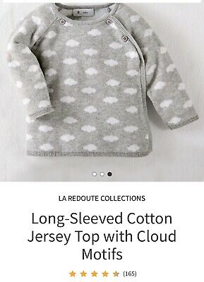 Baby/toddler Boys/girls *la Redoute* Grey Clouds ☁️ Cardi/knit Top/jumper 18-24