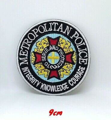 New Metropolitan Police Badge Iron Sew on Embroidered Patch applique #1178