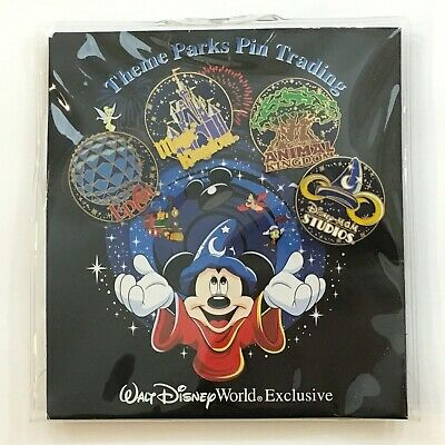 Walt Disney World Exclusive Theme Parks Pin Trading set of 4  New in Package