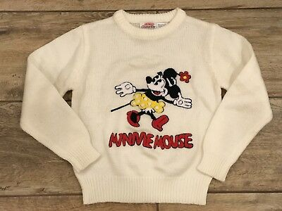 Vintage Youth Kids Minnie Mouse Disney Character Fashions Size 9-10 Sweater