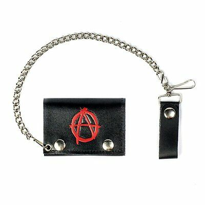 Mascorro Soft Leather Tri-Fold Chain Wallet W/Sons Of Anarchy Made In America