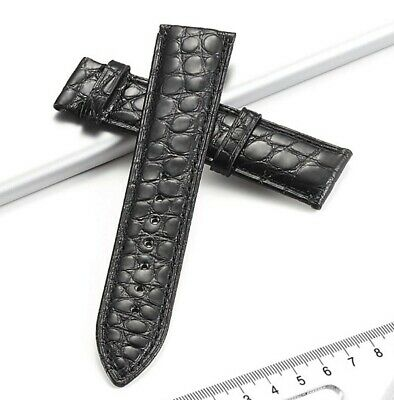 Genuine crocodile leather unisex men's women's Watch band strap full size