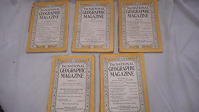 Vintage National Geographic Magazines-1947
