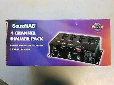 New - Soundlab DMX 4 Channel Dimmer Pack