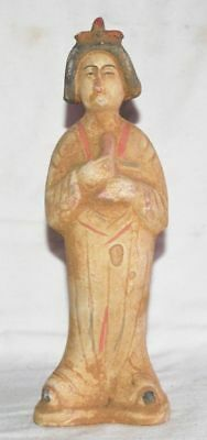China Ancient Tomb Burial Figurines Statue Clay Fired Mini Musician Pottery