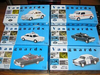 Vanguards Police Vehicles Limited Editions Scale 1:43 Joblot Of 6
