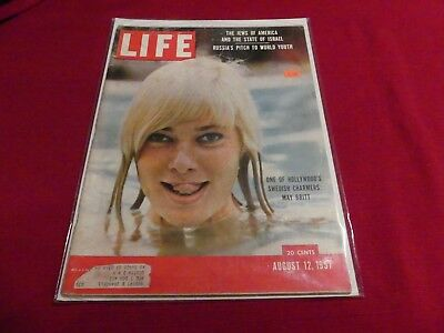 08/12/57 Life Magazine May Britt, United States Air Force (History) 50th Anniv.