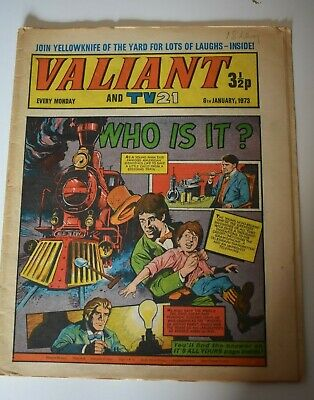 VALIANT And TV 21 Comic 6th January 1973 Vintage Collectors Who Is It?