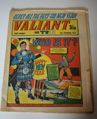 VALIANT And TV 21 Comic 30th December 1972 Vintage Collectors Who Is It?
