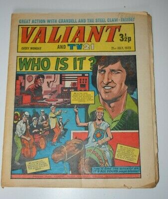 VALIANT And TV 21 Comic 21st July 1973 Vintage Collectors Who Is It?