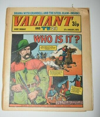 VALIANT And TV 21 Comic 27th January 1973 Vintage Collectors Who Is It?