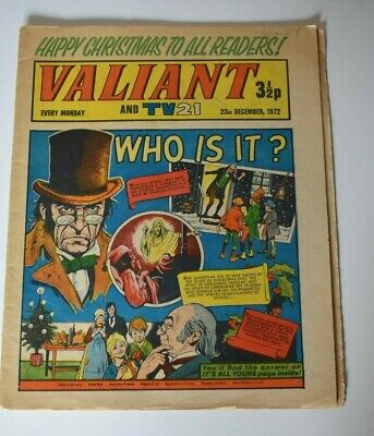 VALIANT And TV 21 Comic 23rd December 1972 Vintage Collectors Who Is It?