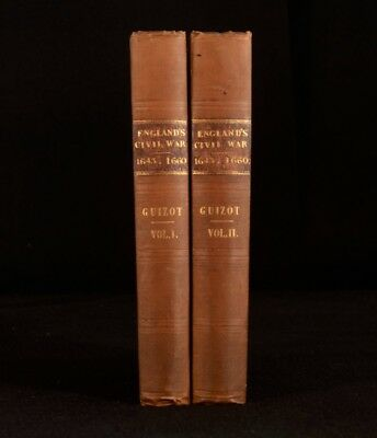 1838 2vol Francois Guizot History of the English Revolution Civil War First