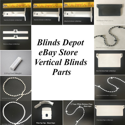 """VERTICAL BLINDS WHITE & BLACK BOTTOM WEIGHTS FOR 3.5"""" (89mm) & OTHER SPARE PARTS"""