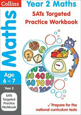Year 2 Maths Targeted Practice Workbook 2019 by Collins KS1 New Paperback Book