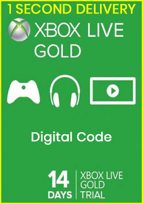 Microsoft XBOX LIVE 14 Day GOLD 2 weeks Trial Membership Code - INSTANT DELIVERY