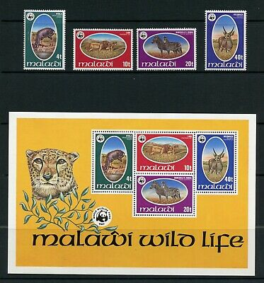 R573 Malawi 1978 WWF wild animals fauna set & sheet MNH