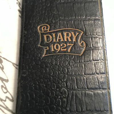 VIntage 1927 Diary BOOK Personal Canada