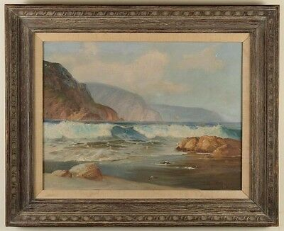 VERNON KERR (1938-1982)Coastline Original Oil on Canvas Painting