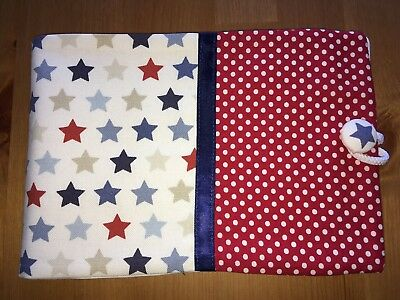 Handmade Baby Health Record Book Cover for the Red NHS Book - Stars