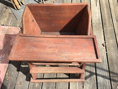 Antique French Country Hand Made Wooden Youth Chair - Original Finish