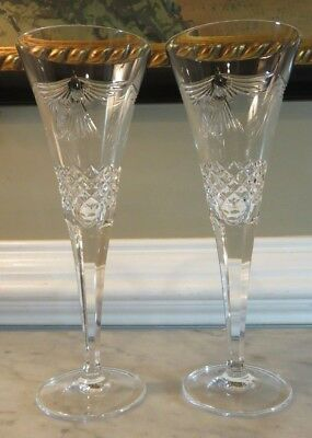 Waterford Crystal Fluted Toasting Champagne Millennium Series - Peace - Doves