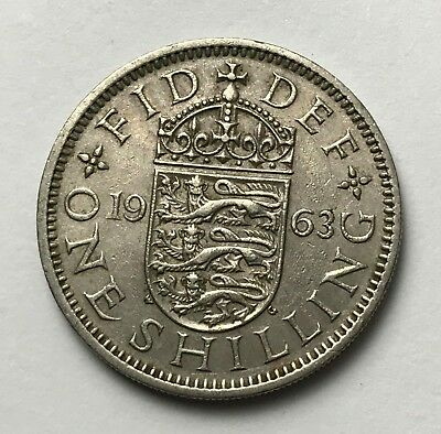 Dated : 1963 - One Shilling - Coin - Queen Elizabeth II - Great Britain