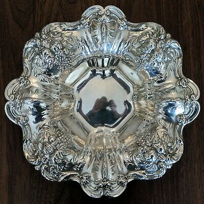 Reed & Barton Francis I Bon Bon X569 Sterling Silver Bowl Saturn Mark 1949 648g