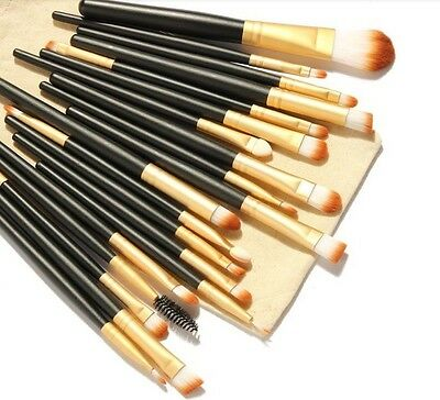 20tlg Set Qualitätspinsel Professionelle Kosmetikpinsel Make-up Schmink Brush