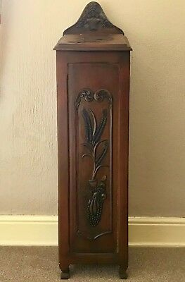 Vintage French Provincial Floor Standing Baguette Box, Huche A Pain, Hand Carved