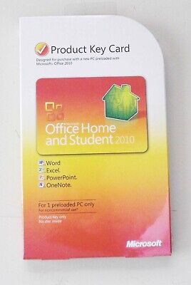 SEALED! MICROSOFT OFFICE HOME AND BUSINESS 2010 Product Key