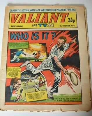 VALIANT And TV 21 Comic 9th December 1972 Vintage Collectors Who Is It?