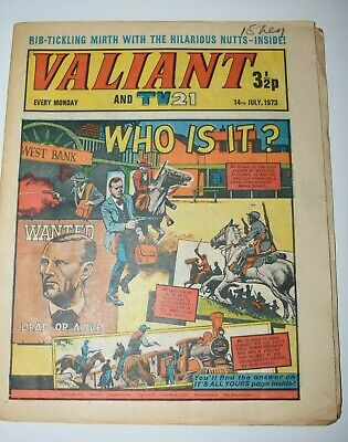 VALIANT And TV 21 Comic 14th July 1973 Vintage Collectors Who Is It?