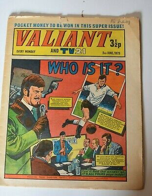 VALIANT And TV 21 Comic 2nd June 1973 Vintage Collectors Who Is It?