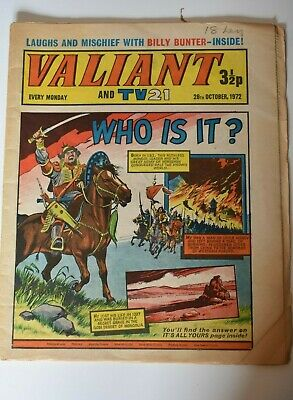 VALIANT And TV 21 Comic 28th October 1972 Vintage Collectors Who Is It?