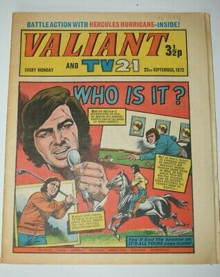 VALIANT And TV 21 Comic 23rd September 1972 Vintage Collectors Who Is It?