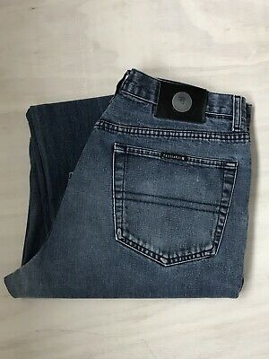 Trussardi Jeans Blue Denim, 36/33, Zip Fly Nicely Worn in Great Quality