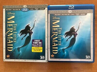 The Little Mermaid Blu-ray/DVD+ 3D 2013,Diamond Edition +Digital Code-New