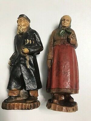 Vintage wooden hand carved figures