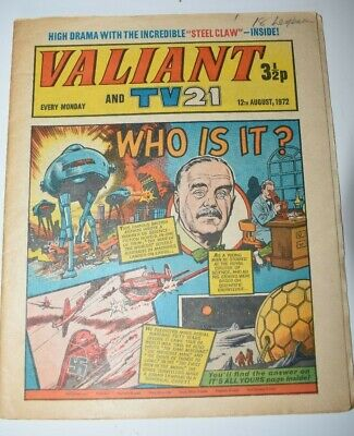 VALIANT And TV 21 Comic 12th August 1972 Vintage Collectors Who Is It?