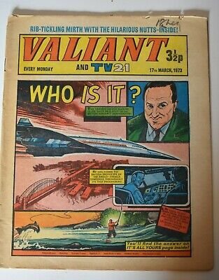 VALIANT And TV 21 Comic 17th March 1973 Vintage Collectors Who Is It?