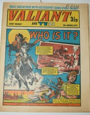 VALIANT And TV 21 Comic 24th March 1973 Vintage Collectors Who Is It?