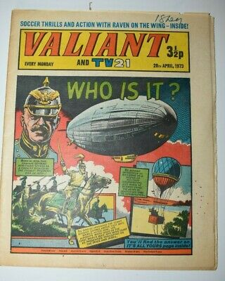 VALIANT And TV 21 Comic 28th April 1973 Vintage Collectors Who Is It?