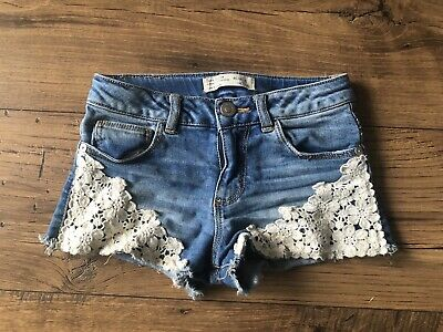 Girls Lace Blue Shorts Age 6 Years ZARA