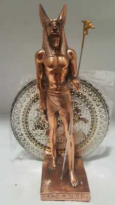 Art of Egyptian Statues Anubis (Old Hand Made Copper) Home Decor Antiques (780g)