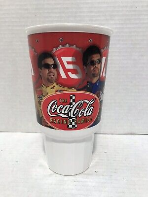 2001 Collectible NASCAR Coca Cola Racing Family Plastic Fountain Soft Drink Cup