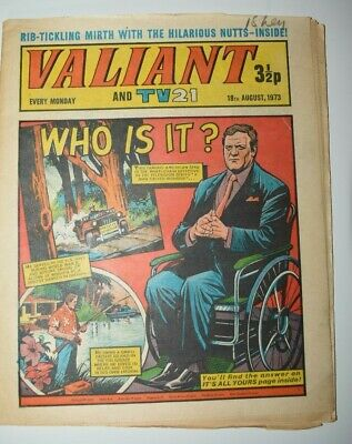 VALIANT And TV 21 Comic 18th August 1973 Vintage Collectors Who Is It?