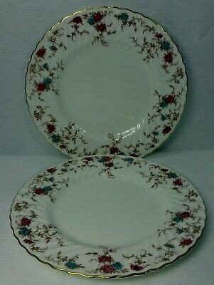 MINTON china ANCESTRAL S376 pattern Wreath Dinner Plate - Set of 2 - 10-5/8""