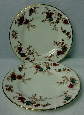MINTON china ANCESTRAL S376 pattern Wreath Bread Plate - Set of 2 - 6-3/8""